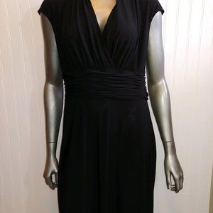 Evan Picone Black Ruched Dress - 10